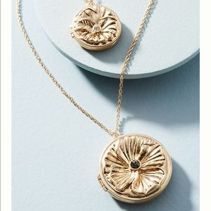 Anthropologie Double Medallion Pendant Necklace